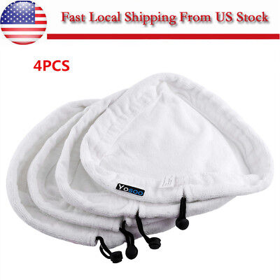 4 x Steam Mop Floor Washable Replacement Microfiber Pads for H2O H20 X5 US