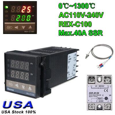 2 Way Alarm Rex-c100 Ac 110-240v 01300 Digital Pid Temperature Controller Kits