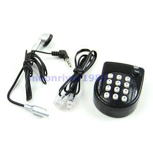 Black-Mini-Hands-Free-Home-Corded-Telephone-Phone-Head-With-Microphone-Headset