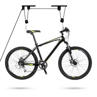 Anti-fall Bicycle Top Suspended Pulley Parking Stand Bike Rack Lift storage