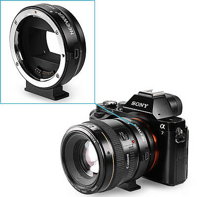 Neewer Metal Lens Mount Adapter for Canon EF/EF-S lens to Sony E-mount Cameras
