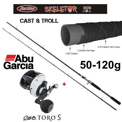 ABU GARCIA Revo Toro S 61 Linkshand  + Skeletor XCD 2,70m  Trolling 50-120g