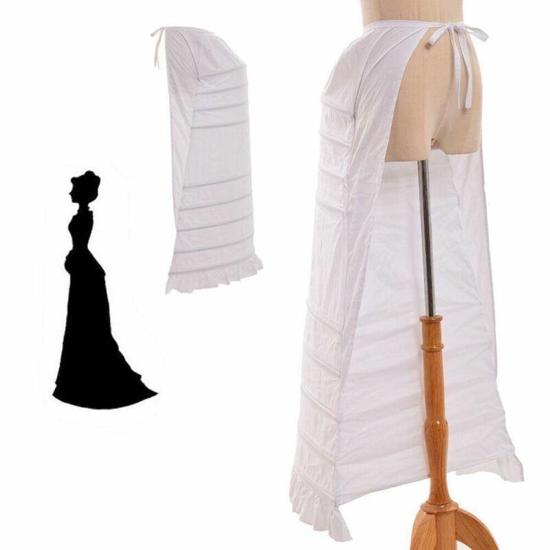 Ladies Punk Cage Back Bustle Renaissance Gown Costume Petticoat Dickens Dress