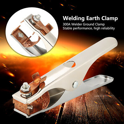 300a Electroplated Ground Clamp Copper Welding Earth Clip For Manual Welder