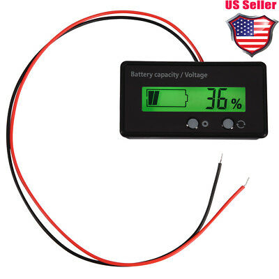 Lcd Display Backlit Battery Capacity Voltage Meter Tester Voltmeter Monitor