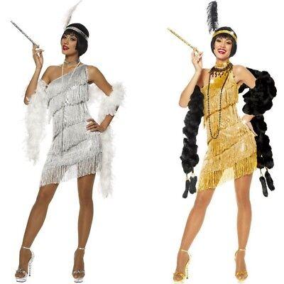 Flapper Damen Kostüm Kleid ( Wähle Deine Farbe) Brüllen 20's Gatsby - Damen Sexy Flapper Kostüm