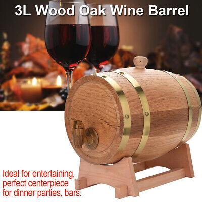 3L Oak Wood Wine Barrel For Aging Wine Whiskey Spirits Beer Keg Storage Barrels for sale  USA