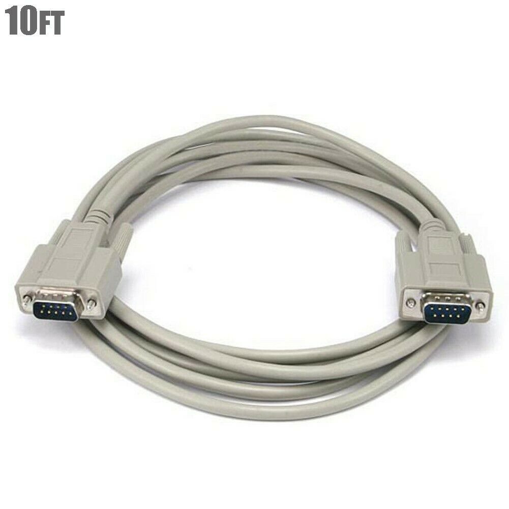 6Ft DB9 DB 9 9-Pin RS-232 Male to Male M//M Serial Cable
