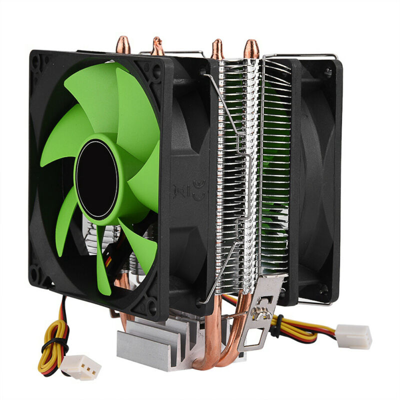 PC CPU Cooler Heatsink Mute Cooling Fan for Intel l775 1155 1150 for AMD