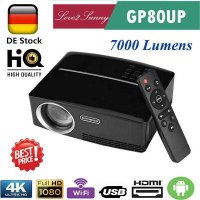 7000lumen WiFi 4K 3D HD 1080P Mini LED Projektor Heimkino Beamer USB/HDMI DE (7000 Projektor)