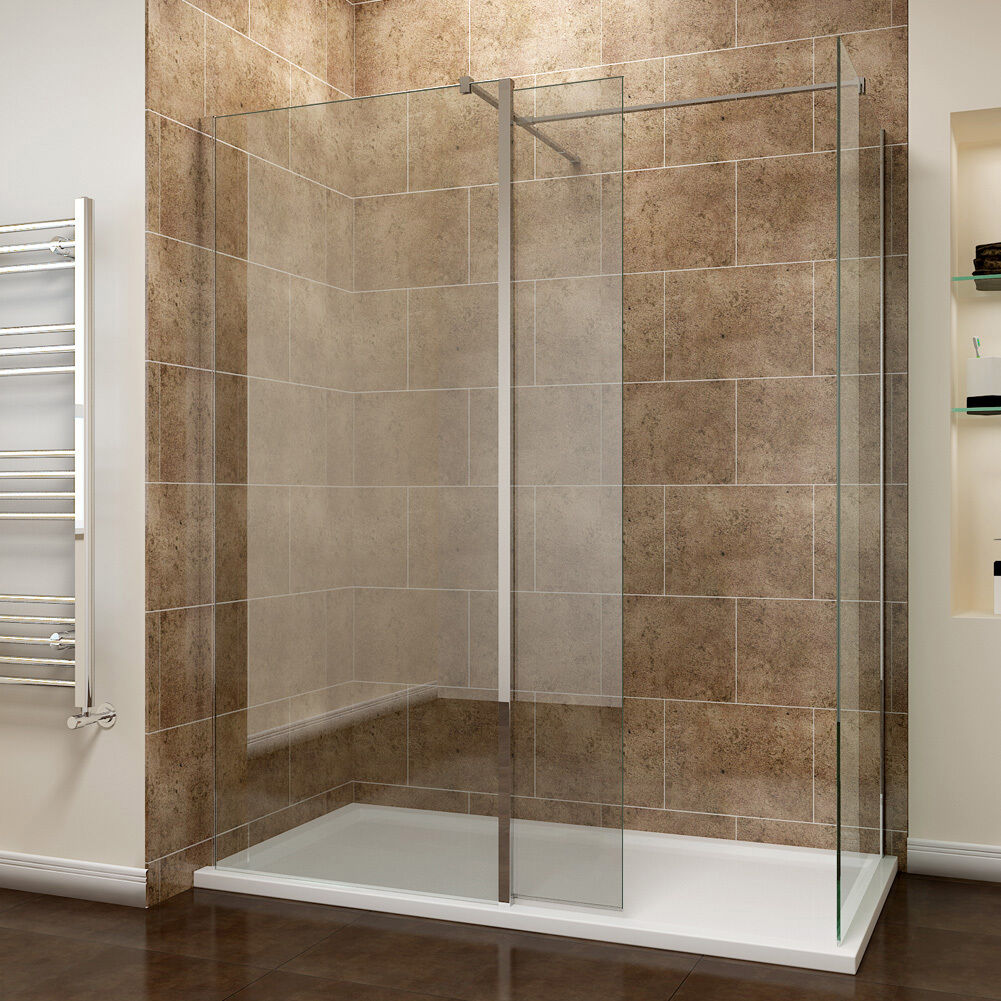 Walk In Shower Enclosure 8mm Toughened Glass Flipper