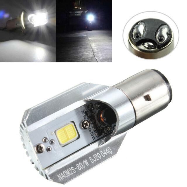 DC 6-80V 12W H/L LED Motorcycle Headlamp COB BA20D Bulb Motorbike Headlight NIU