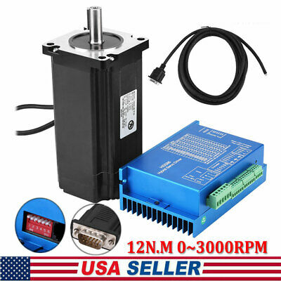 Nema 34 Closed Loop Stepper Motor Kit Hbs86h Hybrid Servo Driver With Cable Us