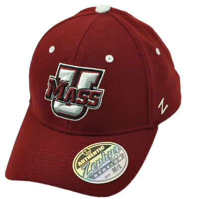 a809dc01f4a NCAA Zephyr Umass Minutemen Flex Fit Medium Large Stretch Hat Cap Burgundy