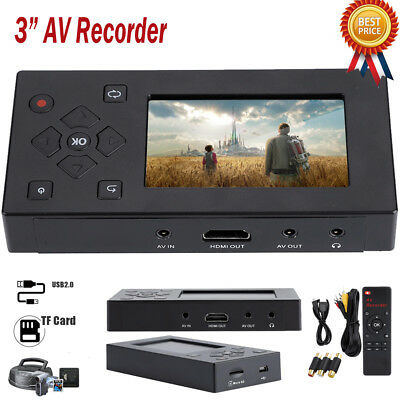"AV Recorder Audio Video Converter Convert VHS/Camcorder Tapes to Digital 3"" CO"