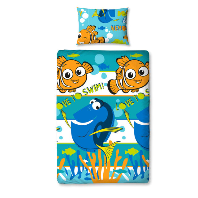 Disney Finding Nemo Children Bed Linen Set Dory 135x200 Finding Bedding Set new