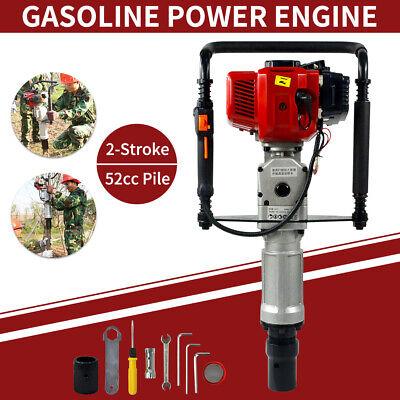 New 52cc 2.3hp Gas Powered T Post Driver Pile Gasoline Engine Push Fence Farm
