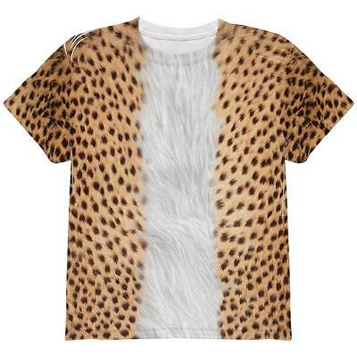 Halloween Cheetah Costume All Over Youth T Shirt (Halloween Cheetah)