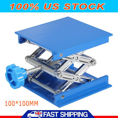 Aluminum Oxide Lab Stand Scissor Lift Lifting Platform Laboratory Jack Table Usa