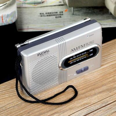 AM FM Battery Operated Mini Portable Pocket Radio Receiver Best Reception