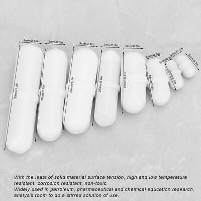 8pcs Magnetic Stirrer Bar Magnetic Stir Mixer Ptfe Lab Science Equipment