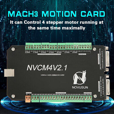 Nvcm 4 Axi S Cnc Controller Mach3 Usb Interface Board Card For Stepper Motor