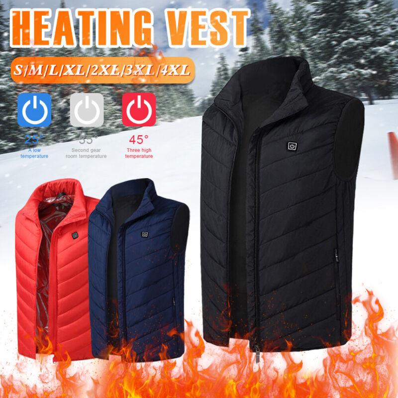 USB Electric Heated Vest Warm Body Heating Coat Jacket Men Women Winter Outwear