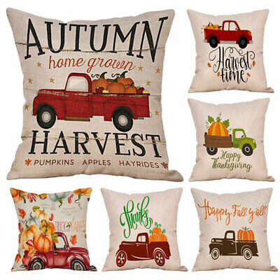 Fall Harvest Pumpkin Car Throw Pillow Case Cushion Cover Sofa Cafe Home Decor - Fall Harvest Decorations