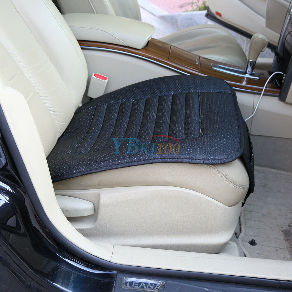 pu leather bamboo charcoal car seat cover pad mat for auto office chair cushion picclick. Black Bedroom Furniture Sets. Home Design Ideas