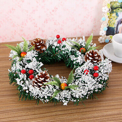 40 CM Christmas Wreath Hanging Garland Xmas Party Ornament Door Wall Decors USA ()
