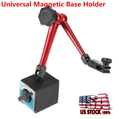 13.78in Large Metal Dial Test Gauge Indicator Rotary Magnetic Stand Base Holder