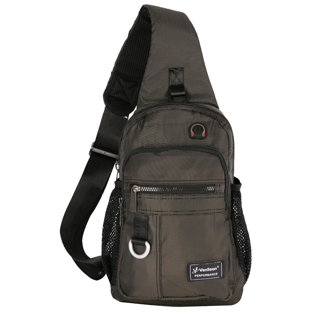 Men/'s Women/'s Large Canvas Nylon Sling Shoulder Chest Bag Backpack Gym Bicycle G