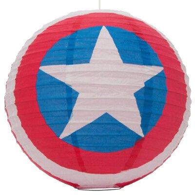 Captain America Marvel Spherical Paper Lightshade Papier Lampenschirm Logo neu