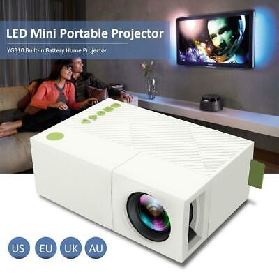 YG310 1080P Home Theater Cinema USB HDMI AV SD Mini Portable HD LED Projector