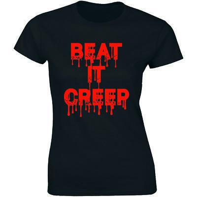 It Happy Halloween (Beat It Creep Shirt Happy Halloween Party Horror Costume Women's Tee)