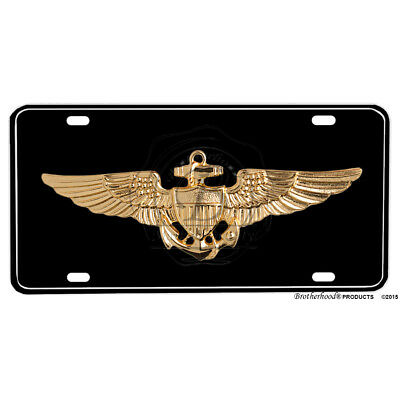 United States Navy Naval Aviator Emblem Printed Flat Aluminum License Plate