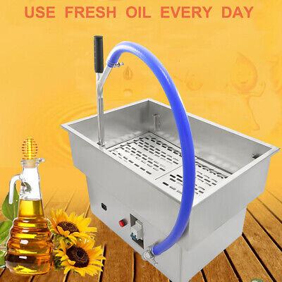 58l Fryer Oil Filter Machine Commercial Oil Filtration System 15.3gallon