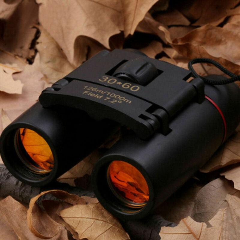 Mini Day Night Vision Binoculars 30x60Zoom Outdoor Travel Hunt Folding Telescope