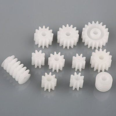 11 Kinds Plastic Main Shaft Gears 9 Spindle 2 Worm For Toy Robot Diy Parts
