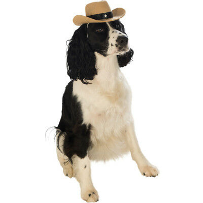 Pet Cowboy Hat Dog Costume Brown Sheriff Western Halloween Puppy Cat - Halloween Cowboy Hat