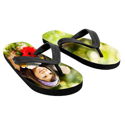 Custom Personalized Flip Flops w/ your Design, Picture/Photo, Logo and Text Custom Design Flip Flops