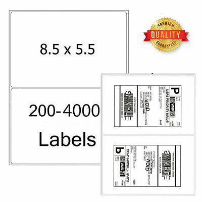 8.5 X 5.5 Shipping Labels Half Sheet Self Adhesive Round Corner Mailing Labels