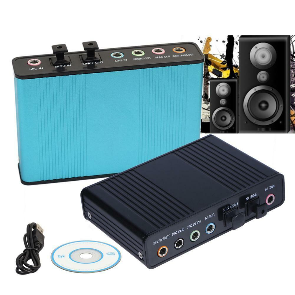 48KHz USB 6 Channel 5.1 External Optical Audio Sound Card fo