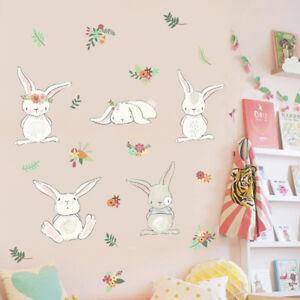 DIY Rabbit Lovely Style Wall Sticker Decal For Nursery Kids Baby Girl Room Decor