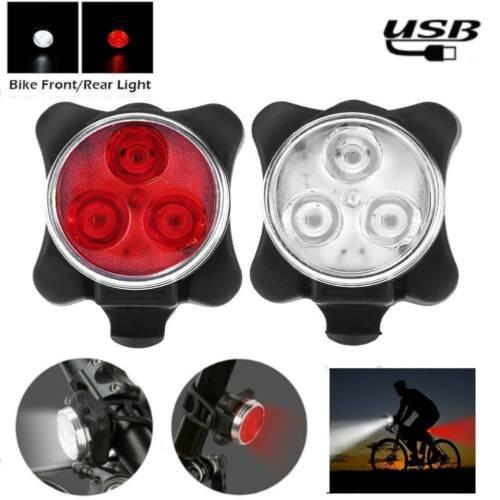 3 LED Scheinwerfer Fahrrad Frontlampe mit USB wiederaufladbarem Rückli TkPZW