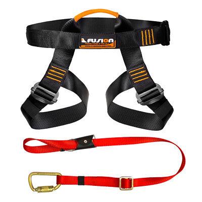 Fusion Pro Backyard Zip Line Kit Harness Lanyard Bundle FK-A-HL-01