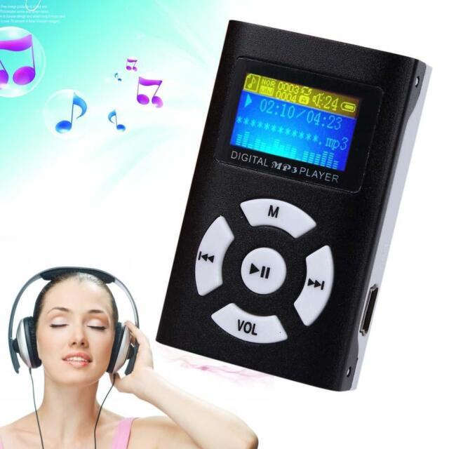 MP3 Music Player With Digital LCD Screen Mini Clip Support 32GB Micro SD TF I,