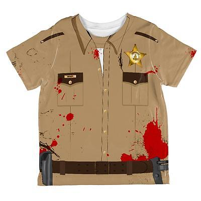Halloween Zombie Grime Sheriff Walker All Over Toddler T Shirt