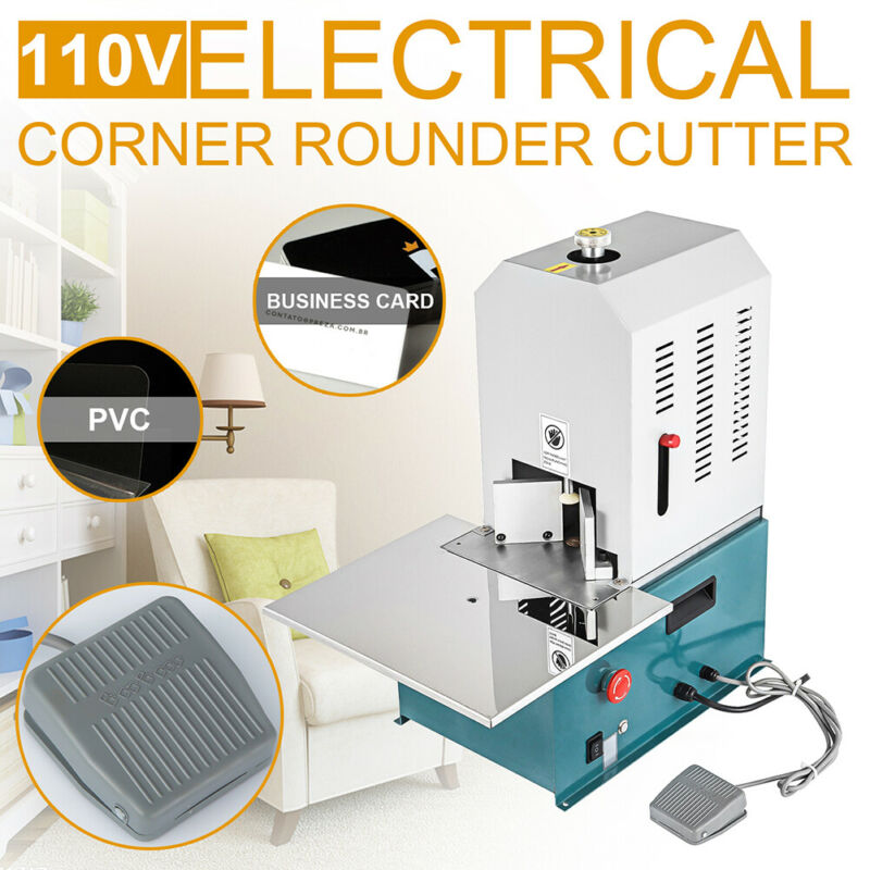 110V Electric Round Corner Cutter Machine Corner Rounding Business Card Paper