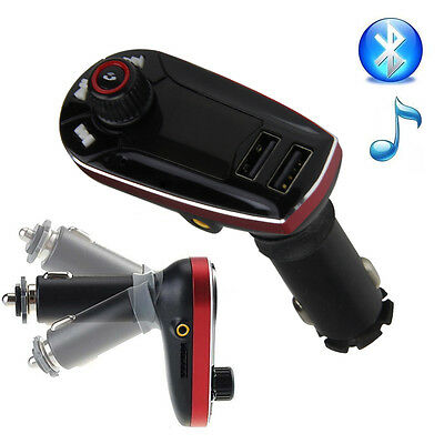 LCD Bluetooth Auto MP3 FM Transmitter Freisprechanlage USB Ladegerät AUX Adapter